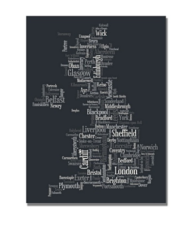 Michael Tompsett UK Font Cities Canvas Art