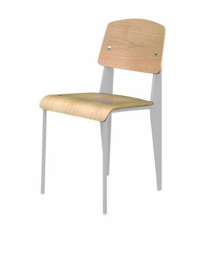 Control Brand Color-Block Bentwood Chair, White