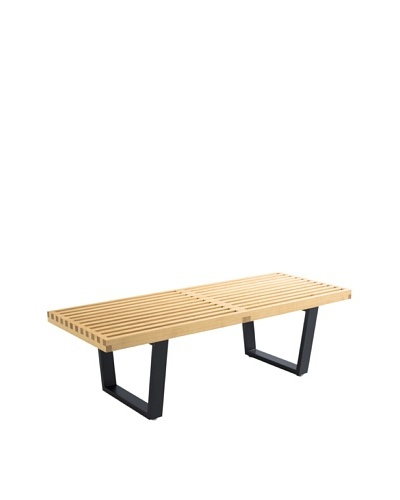 Control Brand Kolding Bench, Light Natural/Black