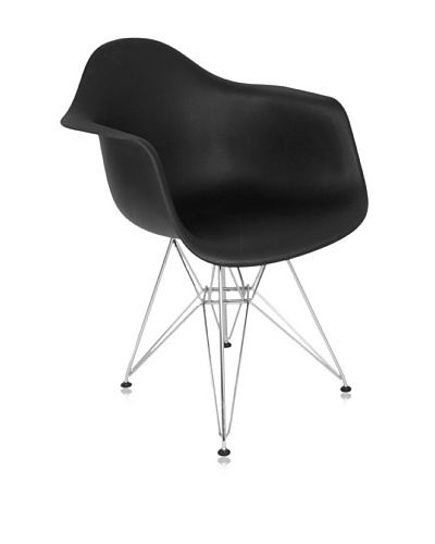 Control Brand Mid Century-Inspired Dining Arm Chair, Black