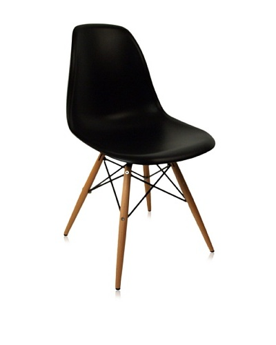 Control Brand Mid Century-Inspired Dining Chair, Black