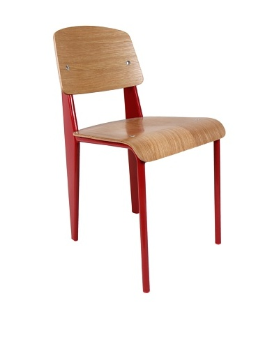 Control Brand Color-Block Bentwood Chair, Red