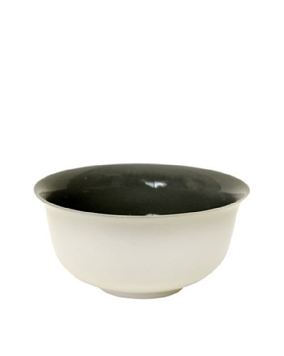 Middle Kingdom Porcelain Bowl, Steel Grey/Ivory