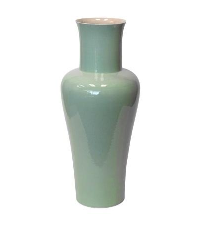 Middle Kingdom Medium Lover Vase, Light Rose/Celadon