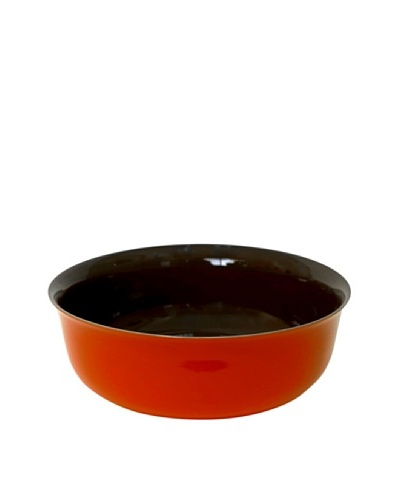 Middle Kingdom Porcelain Bowl, Spice Green/Coral Red