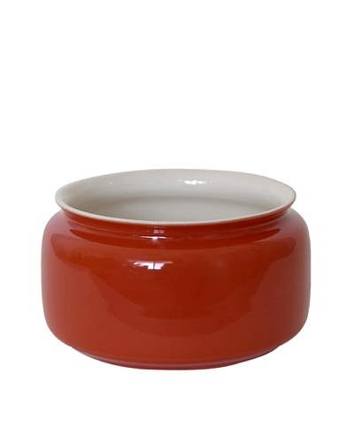 Middle Kingdom Mini Persimmon Vase, Coral Red