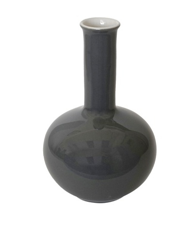 Middle Kingdom Mini Beauty Vase, Steel Grey