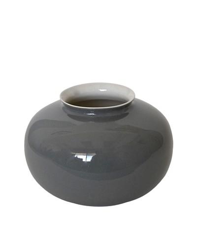 Middle Kingdom Mini Apple Vase, Steel Grey