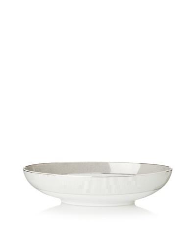 Mikasa 13.75 Platinum Shimmer Oval Bowl, White/Platinum