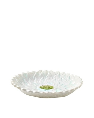 Mikasa Silk Floral Appetizer Plate, White/Teal/Green