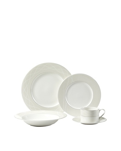 Mikasa 5-Piece Pearl Elegance Place Setting, Off-White