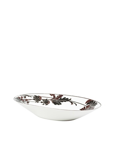 Mikasa Cocoa Blossom Oversize 20 Oval Bowl, White/Dark Brown