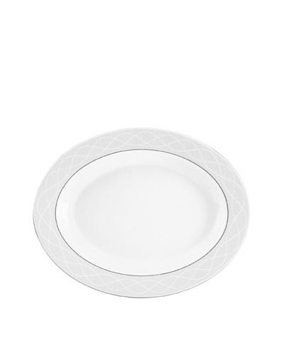 Mikasa Pearl Elegance 14 Oval Platter, Off-White