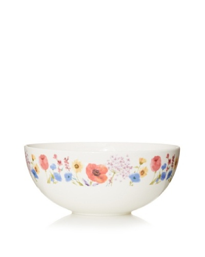 "Mikasa 9.5"" Garden Palette Floral Vegetable Bowl, White/Multi"