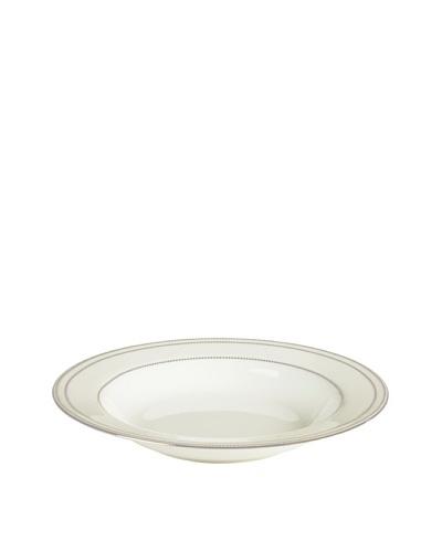 Mikasa Chelsea Platinum Rimmed Soup Bowl, Ivory/Platinum