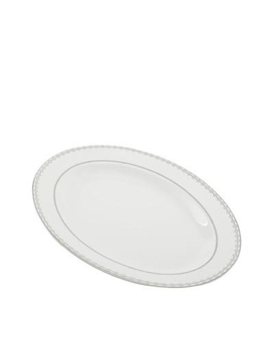 Mikasa Floral Strand14 Oval Platter, White