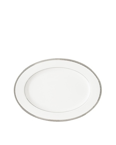 "Mikasa 16"" Astor Place Oval Platter, White/Off-White/Platinum"