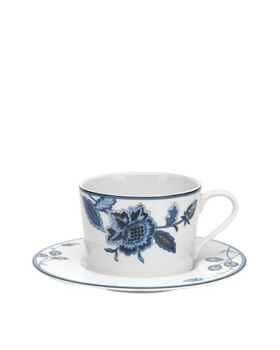 Mikasa Indigo Bloom 8-Oz. Tea Cup & Saucer Set