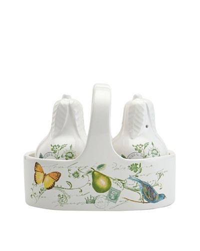 Mikasa Antique Countryside Pear Salt & Pepper Set with Caddy