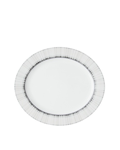 Mikasa 15 Medley Oval Platter, White/Blue