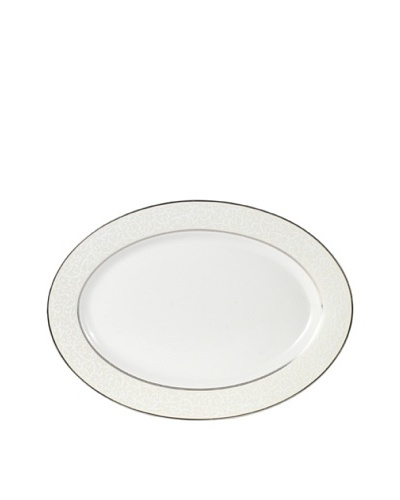 "Mikasa Parchment Ivory Oval Platter, 10"" x 14"""