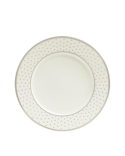 Mikasa Chelsea Platinum Accent Plate, Ivory/Platinum
