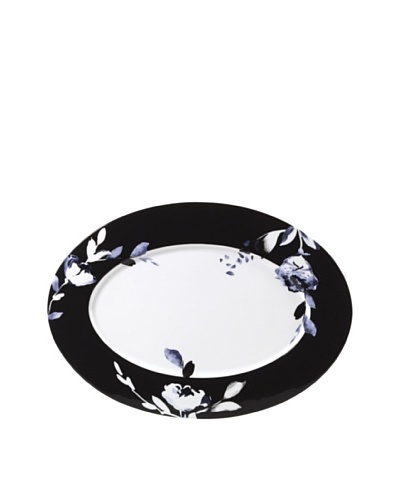 Mikasa Midnight Bloom Oversize 16 Oval Platter