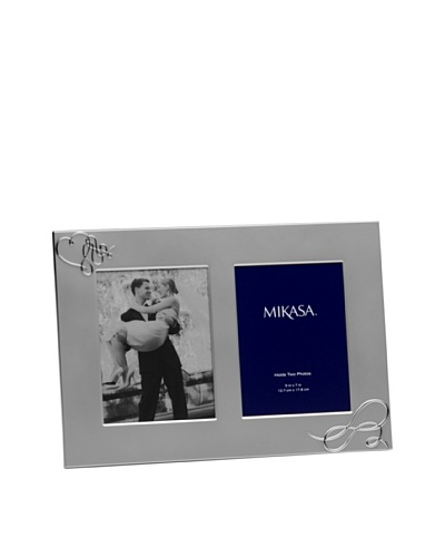 Mikasa Avenue Silver-Plated Love Story Double Invitation Frame