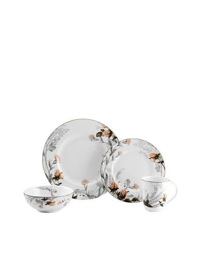 Mikasa 4-Piece Chateau Garden Place Setting, White