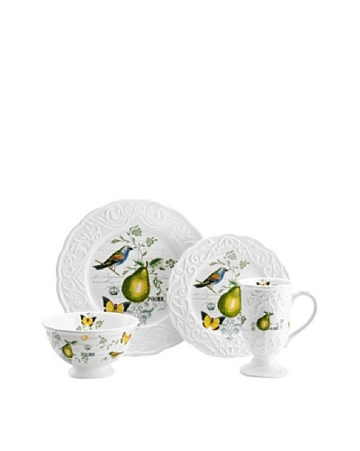 Mikasa 4-Piece Antique Countryside Pear Place Setting