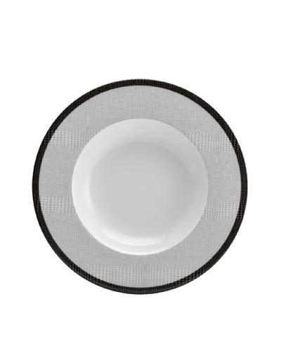 Mikasa Wild Croc Rimmed Soup Bowl, White/Grey