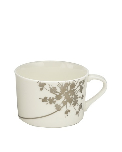 Mikasa Floral Silhouette Tea Cup and Saucer, 8-Oz.