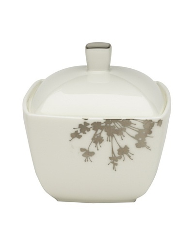 Mikasa Floral Silhouette Covered Sugar Bowl