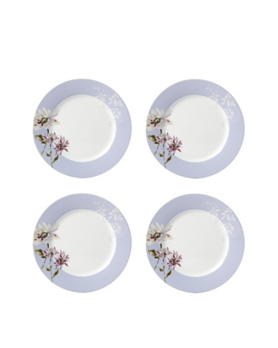 Mikasa Set of 4 Silk Floral Appetizer Plates