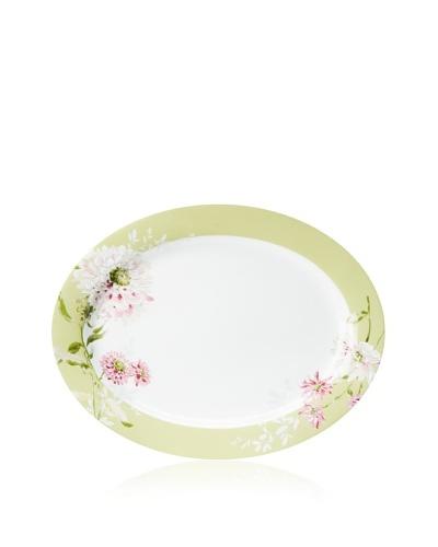 "Mikasa 16"" Silk Floral Oval Platter, Pink"