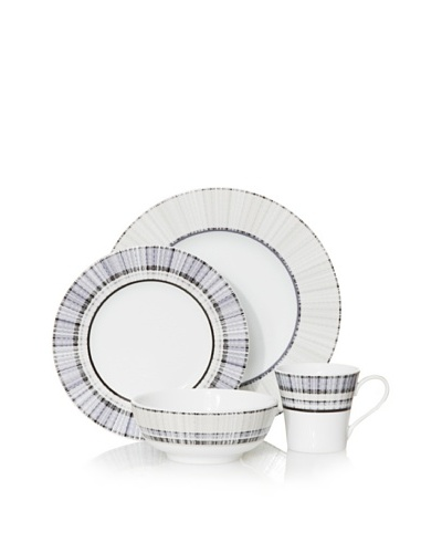 Mikasa 4-Piece Medley Place Setting, White/Blue