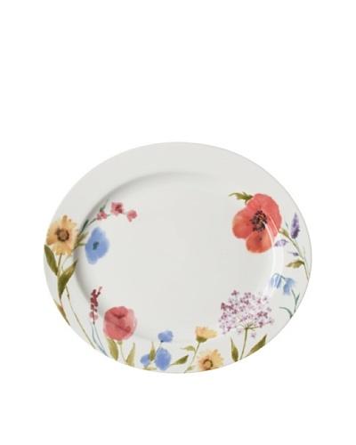 Mikasa 15 Garden Palette Floral Oval Platter, White/Multi