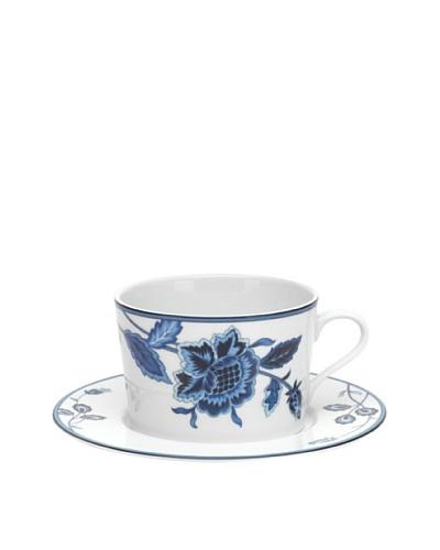 Mikasa Indigo Bloom Cappuccino Cup & Saucer Set