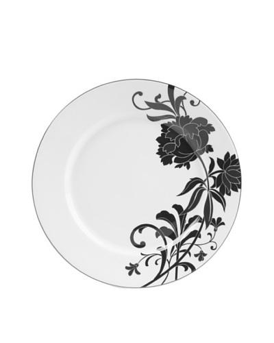 Mikasa Cocoa Blossom Accent Plate, White/Dark Brown Peony