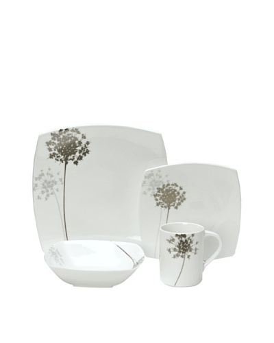 Mikasa Floral Silhouette 4-Piece Place Setting