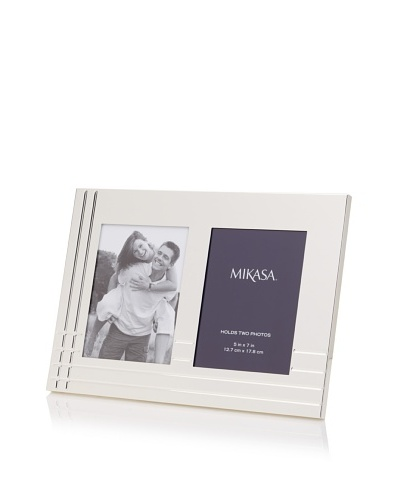 Mikasa Avenue Collection Silver Invitation Picture Frame