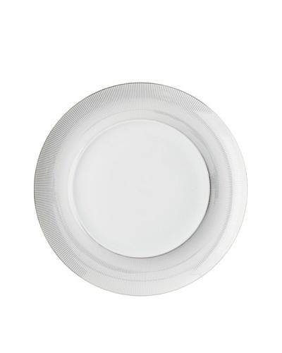 "Mikasa 12"" Round Platinum Shimmer Platter, White/Platinum"