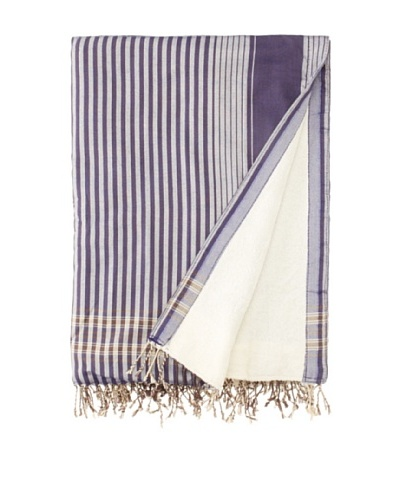 Mili Design Kenyan Towel, Blue, 36 x 64