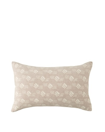 Mili Design NYC Waves Pillow, Taupe, 12 x 18