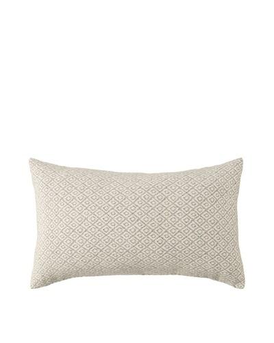 Mili Design NYC Diamonds Pillow, Taupe, 12 x 18