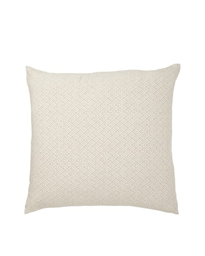 "Mili Design NYC Squares Pillow, Taupe, 22"" x 22"""