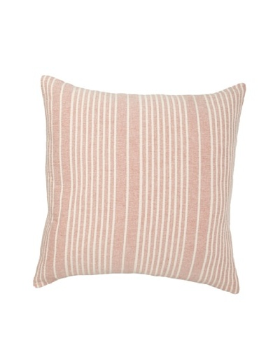 Mili Design NYC Stripes Pillow, Red, 20 x 20