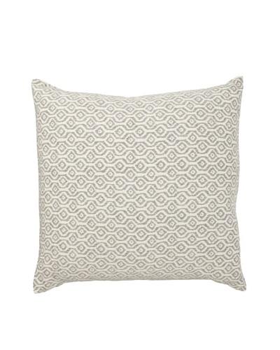 Mili Design NYC Geometric Pillow, Grey, 22 x 22