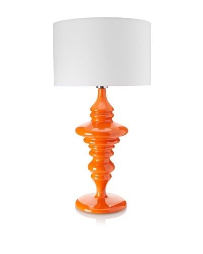 Lacquer Squiggle Lamp, Orange