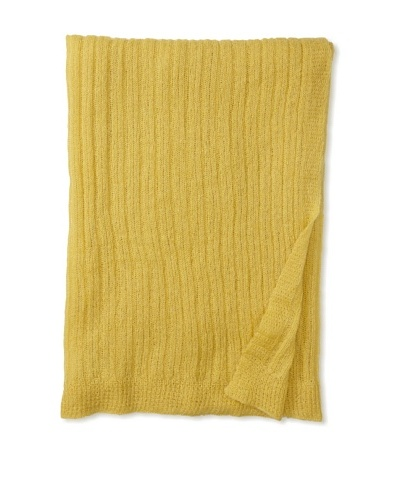 Mili Designs Light Knitted Throw, Sulphur, 59 x 79